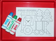 I have added Polar Express paint dauber sheets to 1 - 2 - 3 Learn Curriculum. Click on picture to access free files or to learn how to become a member of 1 - 2 -3 Learn Curriculum. $30. a year for in home providers and $55. a year for centers).