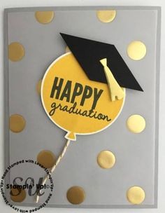 "Good Morning!  Have you got a graduate to celebrate this month? Check out this quick and easy card! Here are the supplies used on this card:      Measurements:   Whisper White cardstock scrap 3"" x 3"", 4"" x 5 ¼  for the inside of the card. Smoky Slate cardstock 5 ½"" x 8 ½"" {Read More...}"