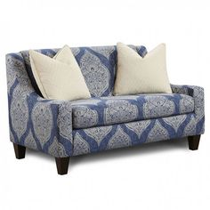 Waller Chair & A Half - SM8480-CH-BB $688  Description :  This distinctive sofa set features beautiful rounded arms and offers supportive pillow back and plush seat cushion, both of which are easily removable. Contemporary in style, matching chairs and throw pillows come in two varieties: blue and white stripes or highly-detailed floral pattern, both of which are perfect accents to the bright ivory sofa and love seat.  Features :   Contemporary Style Middle Leg for Structural Support R
