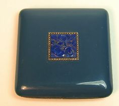 ART DECO STERLING & ENAMELED COMPACT CASE, PARIS, MAPPIN & WEBB, LAPIS, | eBay Mirror Powder, Bijoux Art Deco, Dresser Sets, Compact Mirror, Vanity Set, Vanities, Gatsby, Mirrors, Perfume Bottles