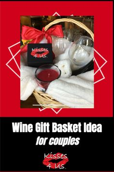 I think this would be a great Christmas Gift for Couples this year and show your creative side!  All you need is a basket and bottle of wine.  Then visit my blog post for links to get the wine glasses, candle and Kisses 4 Us box. Christmas Date, Romantic Christmas Gifts, Diy Xmas Gifts, Christmas Gifts For Couples, Holiday Dates, Great Christmas Gifts, Christmas Wishes, Holiday Ideas, Holiday Gifts