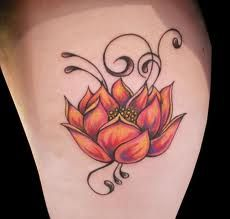 Lotus flower — simple idea for a pretty mastectomy coverage tattoo. [p-ink.org]