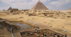 Ruínas de um movimentado porto e aquartelamento para marinheiros ou tropas militares foram descobertas perto das Pirâmides de Gizé.