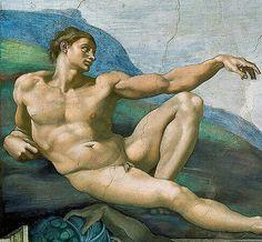 Michelangelo, 1512, De creatie van Adam, Sixtijnse kapel