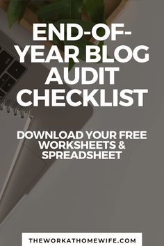 As the year comes to a close, this is a great time to look at your overall blogging trends, identify holes in your bucket and make a plan for the new year with this free end-of-year blog audit checklist.