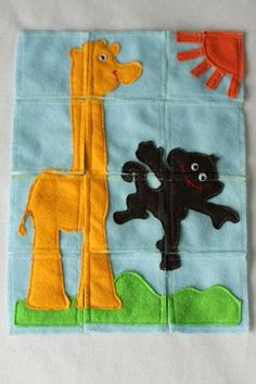 Craft Felt Jigsaw Puzzle...I wonder if I could do this on a larger scale with a lot more pieces...