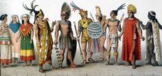 The Aztec clothing was mostly very loose and it didn't cover up the body completely. Aztec clothes were generally made of cotton or ayate fiber, made from the Maguey Cactus. Mexican Fashion, Mexican Outfit, Ancient Aztecs, Ancient Civilizations, Geronimo, Aztec Clothing, Mexican Clothing, Midnight Summer Dream, Aztec Mask
