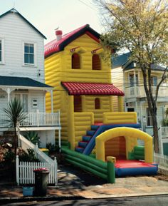 This blow up house- What?!