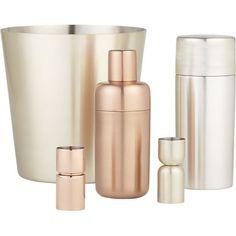 Orb Copper Shaker in Wine & Bar Utensils | Crate and Barrel