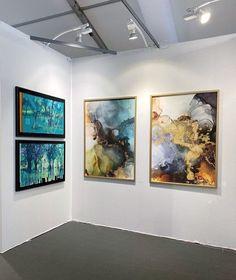 Contemporary Art Fair in Monaco, Linda Skaret. Alcohol Ink Art, Art Fair, Contemporary Art, Abstract Art, Monaco, Painting, Beautiful, Pictures, Painting Art