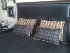 Custom pillows and bedding for client