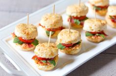 This mini pimento BLT cheddar biscuits recipe starts with cheddar biscuits and ends with your party guests asking for seconds—even thirds!