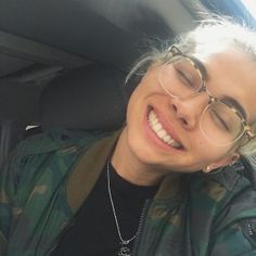 Without a smile! She just posted this silly selfie on her Instagram. Her huge grin is what makes this snap so awesome. Guaranteed you'll catch yourself smiling while looking at this photo. It is too infectious to resist! Twitter: @HayleyKiyoko Instagram: @kiyoko11 Photo: Hayley Kiyoko/Instagram
