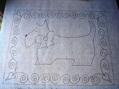 free rug hooking patterns | SCOTTIE DOG - Primitive Rug Hooking Pattern on Gridded Trace Fabric ...
