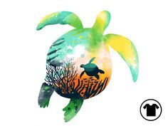 cc3b2153a Turtle Reef for $11 - $14 Turtle, Graphic Tees, Sea Turtles, Turtles,