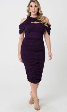 Peek-a-boo neckline dress