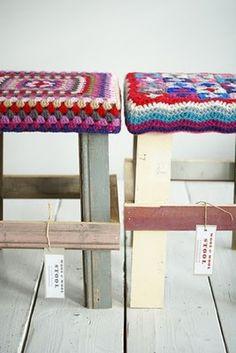 Ingrid Jansen's Wool and Wood Stools