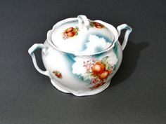 German Three Crown China Large Sugar Bowl - Cottage Chic 1900s by SueEllensFlair on Etsy