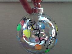Thumbprint lights ornament :)