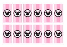 free minnie mouse printable candy bar wrappers