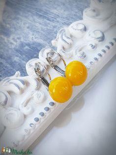 PÖTTY lógós fülbevaló NAPRAFORGÓ (Edian) - Meska.hu Fused Glass Jewelry