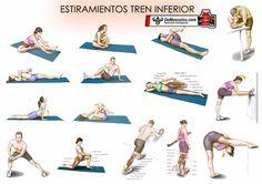 Estiramientos para tren inferior. Más rutinas y ejercicios en www.EJERCICIOS.demusculos.com