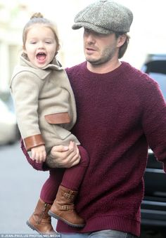 David Beckham and Harper keep close in west London in matching outfits | Mail Online