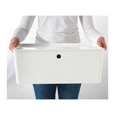 "Storage - KUGGIS Box with lid - 14 ½x21 ¼x8 ¼ "" - $14.99 - IKEA  For storing yours and Mike's larger things"