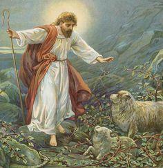 """Jesus Christ The Tender Shepherd"" by Ambrose Dudley"