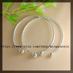 10pcs 65mm Silver plated Screw thread End Cuff Charm Bracelet Bangle FIT HOLE BEADS,Ending Screw Balls Fit European Jewelry Findings