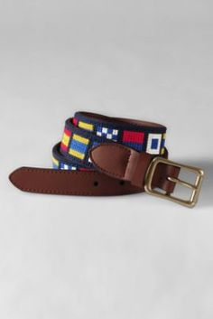 Men's Nautical Needlepoint Belt from Lands' End