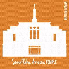 Snowflake Arizona Temple Silhouette LDS by ILoveToSeeTheTemple