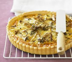 This mushroom quiche recipe starts with a pound of fresh mushrooms:
