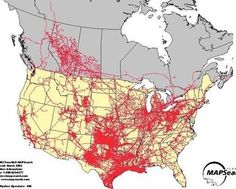 I Work In The Natural Gas Pipeline Industry US Natural Gas - Map of oil pipelines in the us