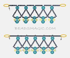 Free pattern for beaded necklace Protaras   U need: seed beads 11/0 pearls 6 mm pearls 4 mm