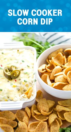Made with cream cheese, green chilis, jalapeños, pepper jack cheese, and served with Fritos Scoops. Slow Cooker Recipes, Crockpot Recipes, Cooking Recipes, New Recipes, Favorite Recipes, Healthy Recipes, Yummy Recipes, Recipies, Green Chilis