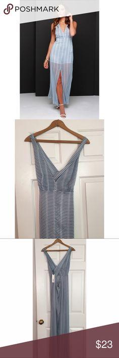 NWT Modcloth BB Dakota Sheer Striped Maxi Dress Never worn, still has tags attached. The lining for this dress is a romper. BB Dakota Dresses Maxi
