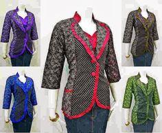 Model Blazer Batik Untuk Wanita Kantoran