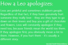 How a Leo Apologizes-THE WORLD OF ASTROLOGY: