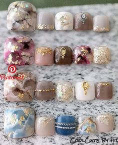 New Nails Gel Toes Nailart 33 Ideas Feet Nail Design, Toe Nail Designs, Pedicure Designs, Nails Design, Pedicure Nail Art, Toe Nail Art, Nail Swag, Gel Zehen, Hair And Nails