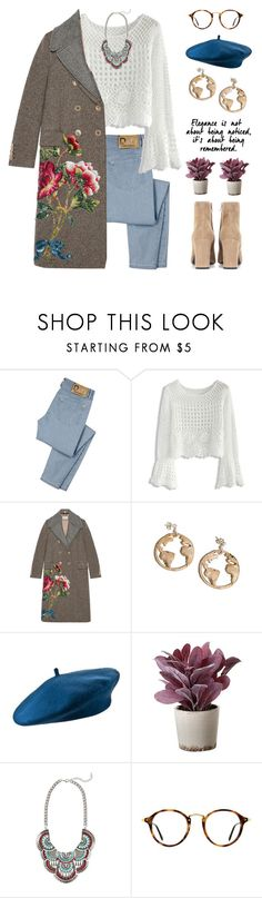 """Juliet"" by brie-the-pixie ❤ liked on Polyvore featuring D&G, Chicwish, Gucci, Torre & Tagus, Cara, Ray-Ban, Yves Saint Laurent and statementcoats"