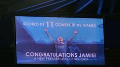 Jamie Vardy graphic inside stadium