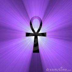 Ankh w/o swirl in the center Egyptian Cross, Cross Symbol, Everlasting Life, Favorite Color, Royalty, Purple, Creative, Chara, Tatt