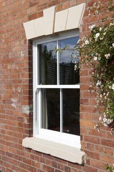 REHAU Heritage Vertical Slider window gives all the benefits of uPVC whilst maintaining the historical look of your home. #upvc #windows #rehau #heritage