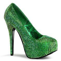 ST Patrick's Day Glitter Green Pump ~