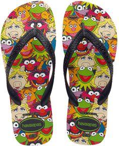 Muppets flip flops