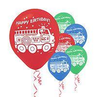 Fireman Birthday Party Balloons Party Supplies #partysupplies