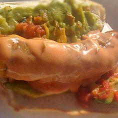 レシピとお料理がひらめくSnapDish - 8件のもぐもぐ - South of the Bratwurst. Homemade spicy chipotle sauce, pico de gallo,avocado and guacamole by robert flicker