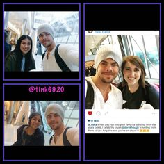 Derek with fans at the Paris airport ❤️