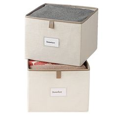 Store your clothes easily with the collapsible Real Simple Garment Storage Bins (Set of 2). You can even use the card holders to display what you're storing in each of the polyester blend bins.
